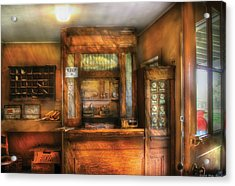 Mailman - The Post Office Acrylic Print by Mike Savad