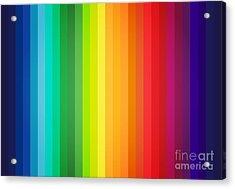 Main Colors Palette Spectrum Acrylic Print by Radu Bercan