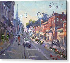 Main St Georgetown Downtown  Acrylic Print by Ylli Haruni