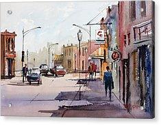 Main Street - Wautoma Acrylic Print by Ryan Radke