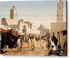 Main Street And Mosque Acrylic Print by Celestial Images