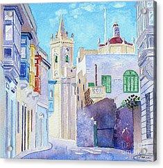 Main Street Balzan Malta Acrylic Print