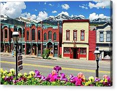 Main Street - Breckenridge Colorado Acrylic Print by Gregory Ballos