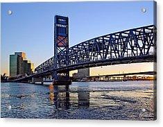 Main Street Bridge At Sunset Acrylic Print by Rick Wilkerson