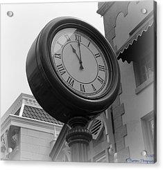 Main Street Clock Acrylic Print