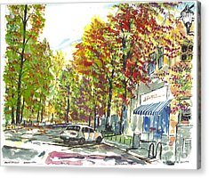 Main Street Greenville Fall Acrylic Print
