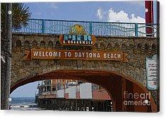 Main Street Pier And Boardwalk Acrylic Print by David Lee Thompson