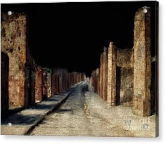 Acrylic Print featuring the digital art Main Street, Pompeii by Lois Bryan
