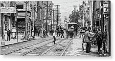 Main Street, Poughkeepsie, 1906 Acrylic Print by The Hudson Valley