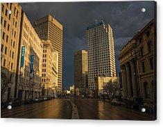 Main Street Sunset Acrylic Print by Bryan Scott