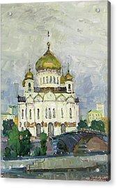 Main Temple Of Russia Acrylic Print by Juliya Zhukova