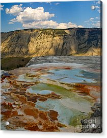 Acrylic Print featuring the photograph Main Terrace Pastels by Charles Kozierok