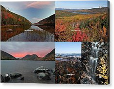 Maine Acadia National Park Landscape Photography Acrylic Print by Juergen Roth