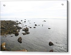 Maine Bay Acrylic Print by Dennis Curry