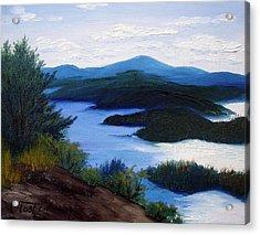 Maine Bay Islands  Acrylic Print by Laura Tasheiko
