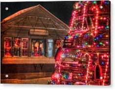 Maine Christmas Scene Acrylic Print by Joann Vitali