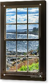 Maine Coast Picture Frame Acrylic Print by Olivier Le Queinec