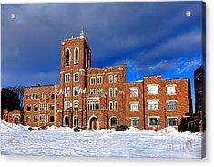 Maine Criminal Justice Academy In Snow Acrylic Print