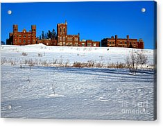 Maine Criminal Justice Academy In Winter Acrylic Print by Olivier Le Queinec