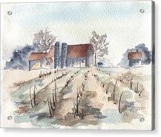 Maine Farm Acrylic Print by Jan Anderson