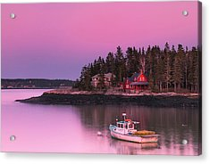 Acrylic Print featuring the photograph Maine Five Islands Coastal Sunset by Ranjay Mitra