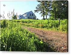 Maine House Acrylic Print by Laurie Breton