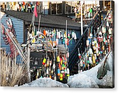 Acrylic Print featuring the photograph Maine Lobster Shack In Winter by Ranjay Mitra