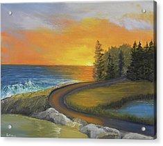 Maine Ocean Sunrise Acrylic Print