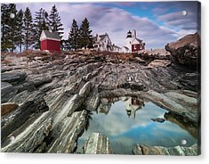 Maine Pemaquid Lighthouse Reflection Acrylic Print by Ranjay Mitra