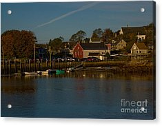 Maine- Seaports In Fall Acrylic Print