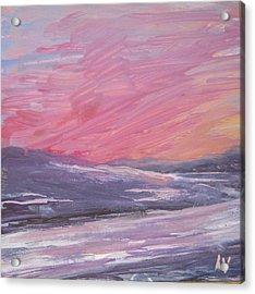 Maine Sunset Acrylic Print by Lynne Vokatis
