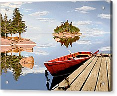Acrylic Print featuring the photograph Maine-tage by Peter J Sucy