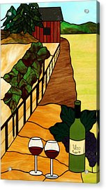Maine Vineyard Acrylic Print by Jane Croteau