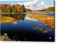 Maine Waterway Acrylic Print by Betty LaRue