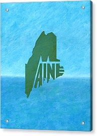 Maine Wordplay Acrylic Print