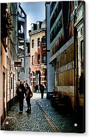 Acrylic Print featuring the photograph Mainz Badergasse by Jim Hill