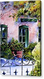 Acrylic Print featuring the painting Maison Fleurie by Marti Green