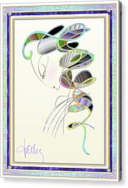 Acrylic Print featuring the mixed media Maitresse-en-titre by Larry Talley