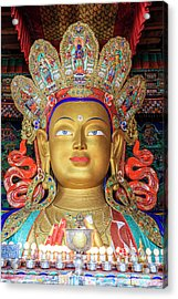 Acrylic Print featuring the photograph Maitreya Buddha Statue by Alexey Stiop
