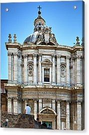 Acrylic Print featuring the photograph Majestic Architecture In The Roman Forum by Eduardo Jose Accorinti