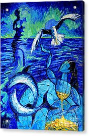 Majestic Bleu Acrylic Print by Mona Edulesco