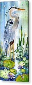 Majestic Blue Heron Acrylic Print