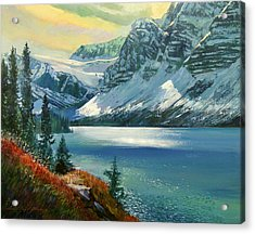 Majestic Bow River Acrylic Print by David Lloyd Glover