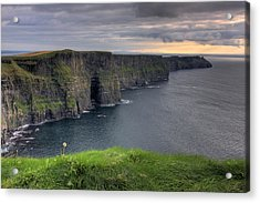 Majestic Cliffs Of Moher Co. Clare Ireland Acrylic Print by Pierre Leclerc Photography