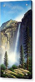 Majestic Falls Acrylic Print by Frank Wilson