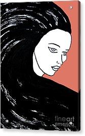 Majestic Lady J0715d Calypso Coral 17-1744 Ee5c6c  De7766 Acrylic Print