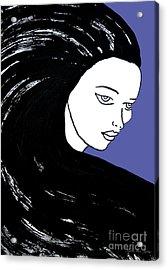 Majestic Lady J0715f J0715f Marina Blue Pastel Painting 17-4041 4f84c4 585fa8 Acrylic Print