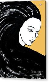 Majestic Lady Mimosa Yellow Pastel Painting 14-0848 F0b59 Acrylic Print