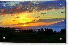 Majestic Maui Sunset Acrylic Print