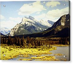 Majestic Mount Rundle Acrylic Print by Will Borden